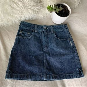 Vintage Silver Jeans 100% Cotton Jean Skirt